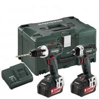 18V COMBO RINKINYS BS 18 LT+ SSD 18 LT 4.0 AH, METABO