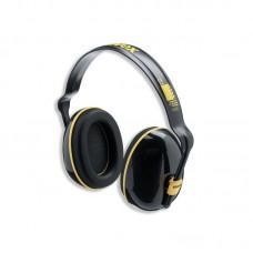 Apsauginės ausinės Uvex K200. SNR: 28dB, juodos/geltonos. Plastikinis lankelis, dielektrinės.