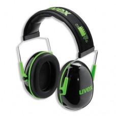 Apsauginės ausinės Uvex K1. SNR: 28dB, juodos/žalios.