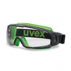 Apsauginiai akiniai U-sonic, skaidri panoraminė linzė, supravision excellence (nesibraižantys ir nerasojantys) padengimas, guminė reguliuojama juostelė. Individuali mažmeninė pakuotė dėžutėje