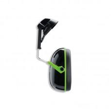 Apsauginės ausinės, tvirtinamos prie šalmo Uvex K1H, SNR: 27dB, juodos/žalios