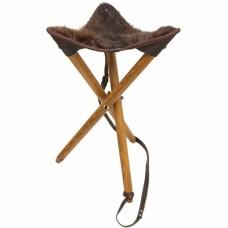 Medžiotojo kėdė su nutrijos kailiu